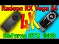 RX VEGA 64 VS GTX 1080  |4K | DX12  AND  DX11 | Comparison|