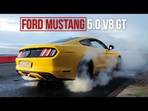 Ford Mustang 5.0 V8 GT Review: Burnouts, Drifting, Road & Track Driving