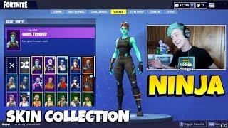 Ninja's Skin Collection With All RARE SKINS Ninja Has | Ghoul Trooper, Christmas Skins & More!