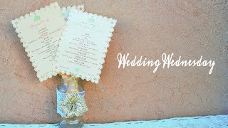 DIY Wedding Programs  {Wedding Wednesday}