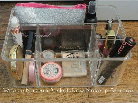Weekly Makeup Basket + New Makeup Storage
