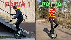 Opettelin ajamaan yksipyöräisellä - kuinka kauan kesti?