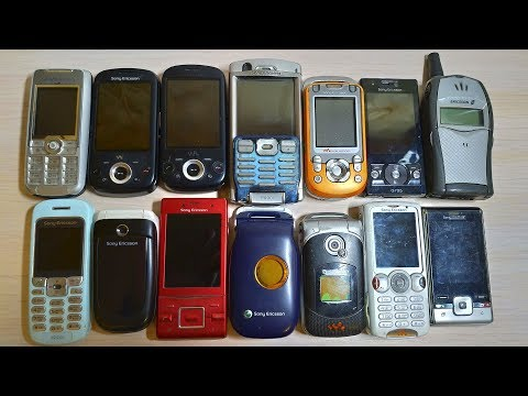 All My Old Sony Ericsson Phones Collection