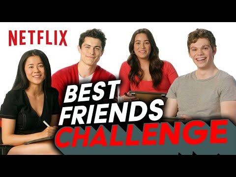 The Half of It Cast Take the Best Friends Challenge | Netflix