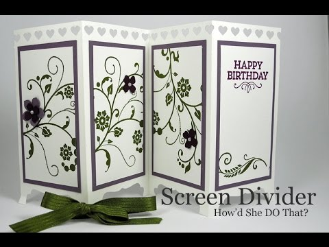 Fun Fold Screen Divider Card by Dawn O