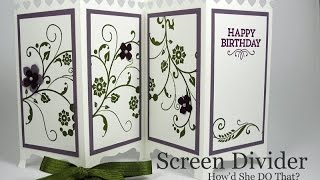 Fancy Fold Screen Divider Card