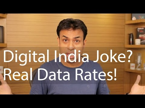 Digital India a Joke, Real India & Data Rates! ACT NOW