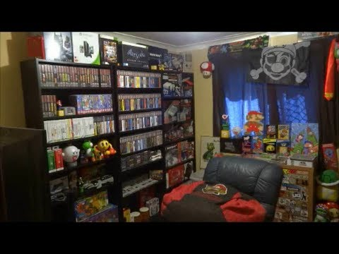 just another video game room tour 2014 youtube. Black Bedroom Furniture Sets. Home Design Ideas