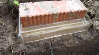 как сделать подушку под фундаментные блоки
