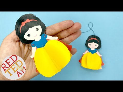 Paper Snow White Ornament DIY with Printable - Easy Christmas Decorations