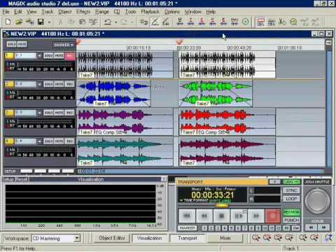 Magix Audio Studio 7 Deluxe Tutorial Video