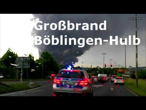 Großbrand Böblingen-Hulb Reisser 11.06.2014 Großeinsatz Feuerwehr-Big fire Böblingen near Stuttgart