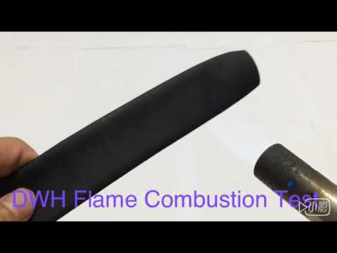 DWH含膠熱收縮套管火焰燃燒測試  DWH Flame Combustion Test