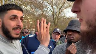 BILAL WALKS UP AND CONFRONTS ALI DAWAH OVER STONG ALLEGATIONS - speakers corner 17/2/19
