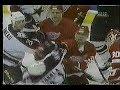Stu Grimson suckerpunches Shane Churla & Stars fans throwing trash on the ice