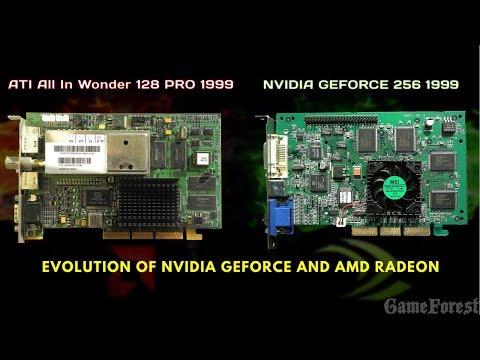 Evolution of NVIDIA Geforce and AMD Radeon 1999-2017