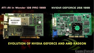 Evolution of NVIDIA Geforce and AMD Radeon 1999-2017