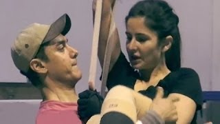 Repeat youtube video Dhoom 3 | Katrina Kaif & Aamir Khan Gets Cozy In Rehearsals