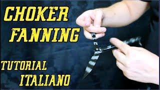 CHOKER FANNING • COLTELLO A FARFALLA (BALISONG) + Applicazioni combo