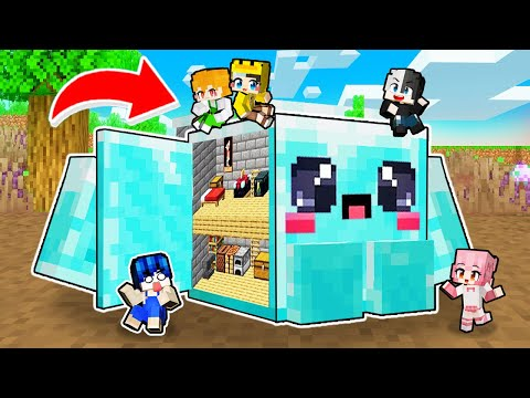 Mr Vịt Xây Nhà Trong Em Bé Khối Kim Cương Minecraft