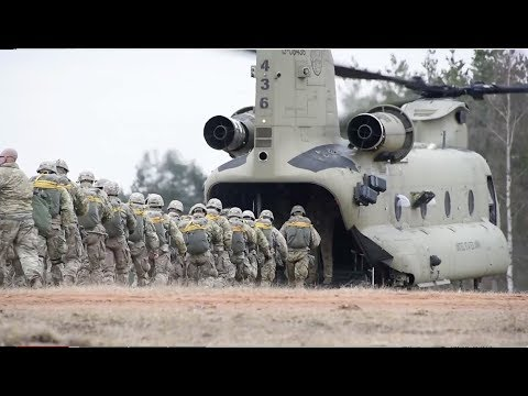U.S. Army Paratroopers conduct airborne operations with CH-47 Chinook *173rd Airborne Brigade*