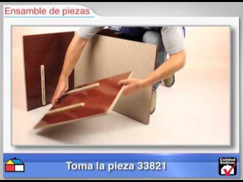 Closet 3 Puertas 2 Cajones 83x47x182 Caoba Doovi