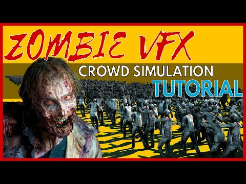 Crowd Simulation Tutorial - Tyflow Zombies (Allan McKay VFX 3DS Max 2020)