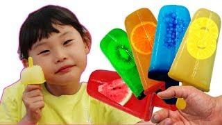 라임의 과일 아이스크림 만들기supermarket song nursery rhyme