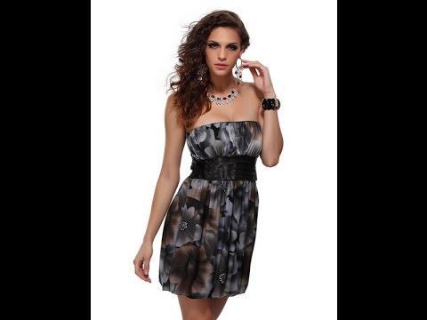 Бирюзовое платье - фото коротких и длинных платьев