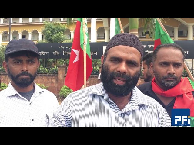 Iftiyaz Sayed- President PFI-Goa at Babri Masjid Protest at Margao Goa