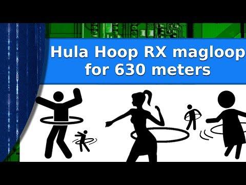 Ham Radio - 630 meter band RX magloop in a hula hoop