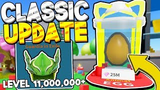 MEGA CLASSIC LAND PETS AND HATS IN UNBOXING SIMULATOR UPDATE! Roblox
