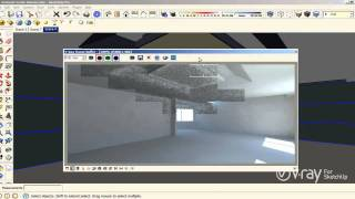 V-Ray for SketchUp - Interior Illumination - tutorial