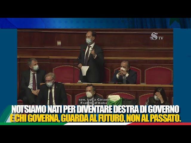 Il Senatore Ciriani interviene in dichiarazione di voto