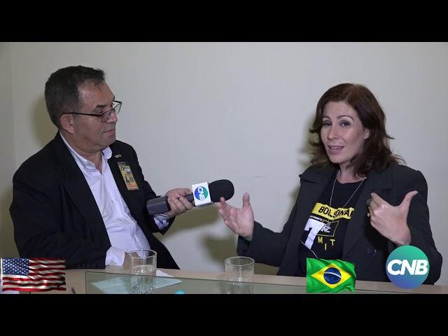 TV CNB ENTREVISTA Carla Zambelli fundadora movimento nas ruas