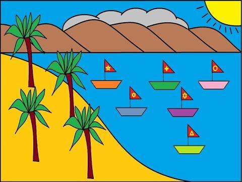 [Tin học 1]. Hướng dẫn vẽ bãi biển bằng Paint