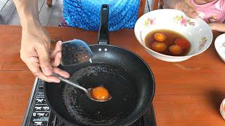 ไข่ดองน้ำปลาทอด อร่อยจริงมั้ย สะแตกแดกตับ