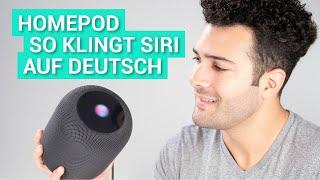 So klingt Siri auf dem HomePod in deutsch!