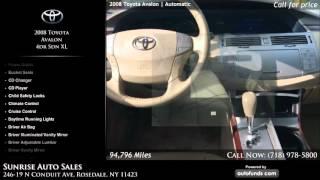 Used 2008 Toyota Avalon | Sunrise Auto Sales, Rosedale, NY