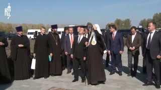 Патриарх Кирилл освятил памятник преп. Сергию Радонежскому и кн. Димитрию Донскому
