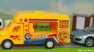 Мультик про машинки - 214 серия:  Полицейская погоня, Гоночная машина, Пожарная машина, Авария
