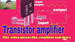 Transistor amplifier with connection diagram and AC single