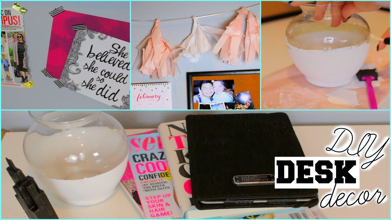 Diy Pinterest Inspired Desk Decor Organization Tips Kenzie Elizabeth You