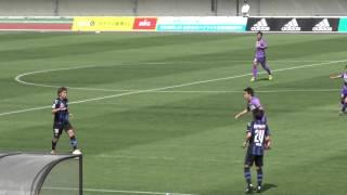 小川直毅の2点目ゴール J3 16.5.8 ガンバ大阪U-23 2-0 藤枝MYFC