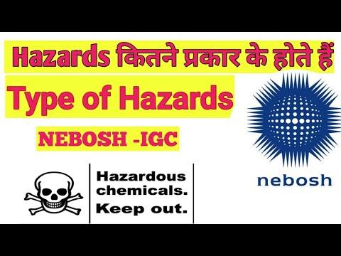 Type Of Hazards  In Nebosh | Hazards कितने प्रकार के होते हैं