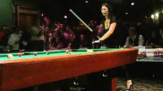 Hi everyone, here's a video that i did of professional pool player 'the black widow' jeanette lee when she was at the fox and hound in arlington heights, s...