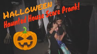 Halloween Scare Prank Haunted House on Trick or Treaters