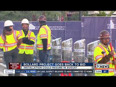 Bollards project on Las Vegas Strip expected to resume this summer