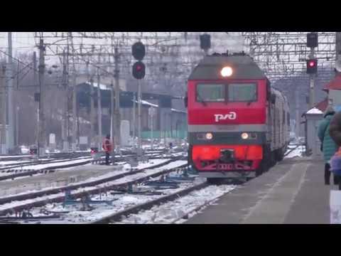 Тепловоз ТЭП70БС-013 со скорым поездом №45/46 Тамбов - Москва