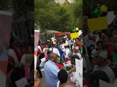 Biafrans at United Nations Headquarters in New York - today 09/19/2017